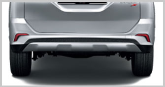 Rear Bumper with Silver Painted Diffuser*