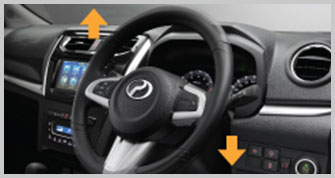 Adjustable Leather-wrapped Steering with Audio and 'Receive Call' Control*