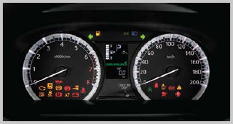 Sporty White-illuminated Meter Panel with LCD Info Display